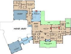 Luxurious 5-Bed House Plan with Porte-Cochere - 70584MK floor plan - Main Level