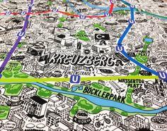 Das ist eine Arbeit, die mir allein für die dafür notwendige Ausdauer Respekt abverlangt. Die englische Illustratorin und Designerin Jenni Sparks hat sich für Evermade an die Monster-Aufgabe gemacht, einen handgezeichneten Stadtplan für Berlin zu erstellen. Zuvor hatte sie das Gleiche bereits für London und New York gemacht. Sie schreibt selbst, dass sie für den [...]
