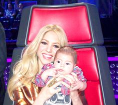 Ok yes, we are obsessed.  We admit it. Shakira Brings Adorable Son Milan, Almost 3 Months, to The Voice Set The Voice  | NBC The Road to the Live Shows A best-of look at Season 4 charts the journey of the Top 16 and features unseen footage of the coaches.