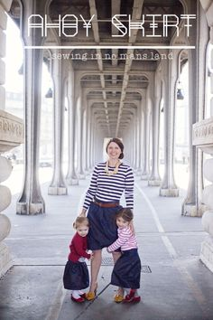 Ahoy Skirt! #DIY Skirt Pattern from @Kelly Crawford | Supplies from Joann.com