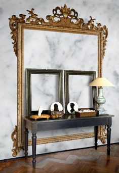 Trompe L'Oeil Wallpaper | Wall-Effect Trompe l'Oeil wallpaper LOUIS XV - Wall&decò