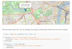 A nice, mobile-friendly interactive maps with Leaflet: an open-source JavaScript library with a rich set of useful features.