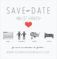 save the date must haves