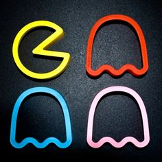 Pac Man Cookie Cutters  http://www.bouf.com/buy/product/55235/pac-man-cookie-cutters--pacman
