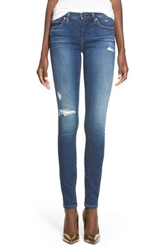 SIZE 26 _BLANKNYC 'Hotel' Distressed Skinny Jeans (Blue) available at #Nordstrom