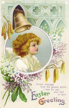Download Free Vintage Easter Angel Cards