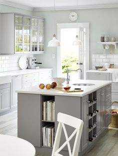 IKEA SEKTION kitchens give you the freedom to create your perfect kitchen. Whether you want storage in your kitchen island or stylish glass cabinet doors - or both - it's up to you!