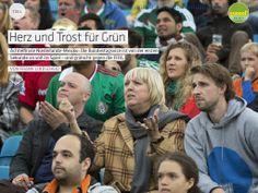 """Ich sah dies in """"Herz und Trost für Grün"""" in gooool! #19 Das tägliche WM-Magazin."""
