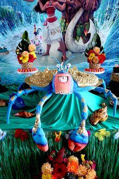 Tamatoa Crab Cake from a Moana Birthday Party on Kara's Party Ideas | KarasPartyIdeas.com (22)
