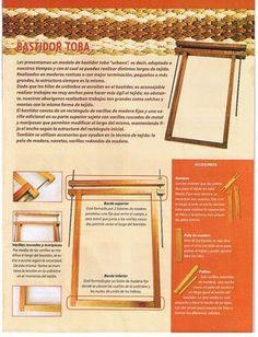 Telar basico Finger Weaving, Loom Weaving, Weaving Projects, Darning, Tapestry Weaving, Weaving Techniques, Shibori, Textiles, Sewing