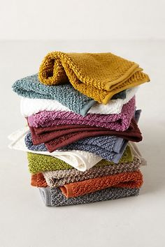 Terry Quilted Washcloth  #anthropologie