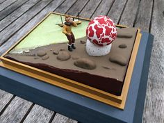 Lesselier - Diorama Scène de l' Etoile Mystérieuse des Aventures de Tintin - (1991) Fred, Cake Cookies, Cookie Decorating, Birthday Candles, Party Time, Sweets, Cartoon, Snakes, Models