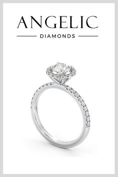 Shine bright like a diamond with this beautiful halo engagement ring. Featuring a round diamond in the centre surrounded by a halo of diamonds with even more diamonds running down either side of the white gold band.