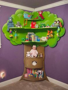 Rhodes Children's Tree Bookcase di BeezleeCreations su Etsy, ideas for kids Diy Projects For Kids, Diy Furniture Projects, Kids Furniture, Tree Furniture, Diy Childrens Furniture, Bedroom Furniture, Childrens Bookcase, Tree Bookshelf, Tree Shelf