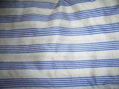 silk dupioni white / blue{vertical stripes}