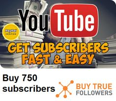 Whether you�re new to YouTube, or a seasoned Veteran � there�s no denying the power of popularity. The more YouTube Subscribers you have, the more people are likely to watch your videos and subscribe your channel.Buying Subscribers is a quick and easy way of getting your first few hundred or thousand subscribers, helping you speed up your YouTube growth and shorten the road to successBuy #YouTube #subscribers. #youtube_subscribers #subscribe #subscribers #Channel #Youtubechannel