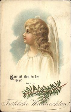 Christmas Angel - German c1910 Postcard