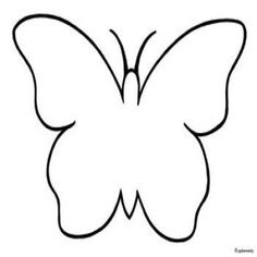 coloring page with a simple outline of a butterfly to color rh pinterest com butterfly template clipart butterfly flying outline clipart