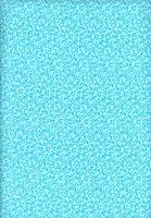 Tecido Anita fundo verde agua c/ azul turqueza