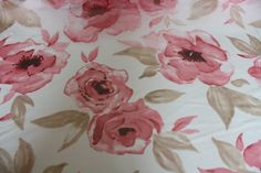 large floral print fabric pink - Google Search