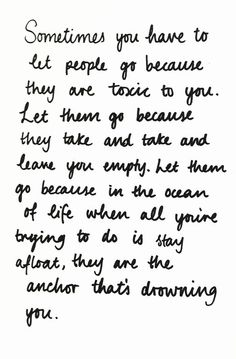 Just let them go..♥