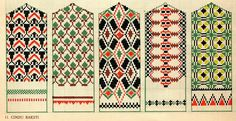 embroidery designs for mitten by latvian designer, z. Knitted Mittens Pattern, Knit Mittens, Mitten Gloves, Knitting Charts, Knitting Stitches, Knitting Patterns, Sewing Patterns, Motif Fair Isle, Embroidery Designs