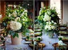 white garden flowers & lots of natural greenery (so refreshing!)