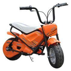 MotoTec Mini Bike Motorcycle Battery Powered Riding Toy - MT-MB_ORANGE, Durable