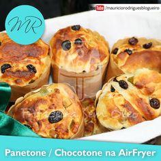 VÍDEO - Panetone ou Chocotone na AirFryer | Fritadeira sem Óleo - AirFryer