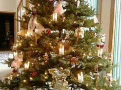 "Our ""always perfect"" traditional angel tree."