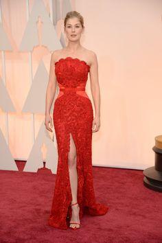 Oscars 2015: The Best Dressed Celebrities on the Red Carpet – Vogue Rosamund Pike in Givency #2015Oscars #redcarpet #rosamundpike