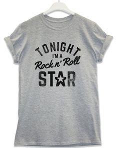 Rock n Roll Star - Lyric Quote T Shirt - Sport Grey / 2XL