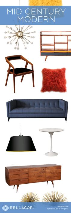 Mid Century Modern Furniture, Lighting and Home Decor. Bellacor price match guarantee plus Free Shipping on orders $75+. http://www.bellacor.com/mid-century-modern.htm?partid=social_pinterestad_midcentury_collage