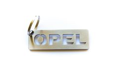 OPEL stainless steel hand polished keychain by MetalStyleLT on Etsy