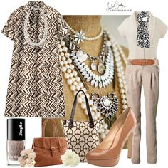 pearls and beige