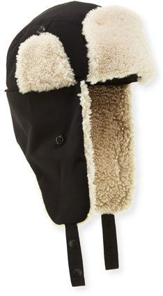 31be04cbeba49 Moncler Shearling-Lined Trapper Hat