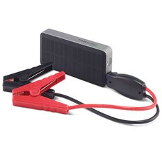 "The Best Automotive Jump Starter. The Best starter also has two USB ports for recharging laptops or cell phones, an integrated flashlight, and an LCD to indicate remaining charge. Holds its charge for up to three years when not being used. 6 1/2"" L x 3""  - Hammacher Schlemmer"