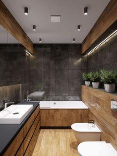 Washroom Design, Bathroom Design Luxury, Bathroom Layout, Modern Bathroom Design, Interior Design Kitchen, Small Bathroom, Bathrooms, Wood Bathroom, Bathroom Ideas