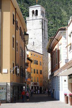 Torre Apponale, Piazza Tre Novembre Riva del Garda Italy Riva Del Garda, Garda Italy, Lake Garda, Lake Como, Street View, Spaces