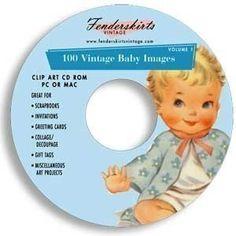 retro baby art