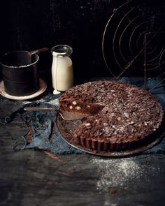 Chocolate Brownie Pie by What Katie Ate