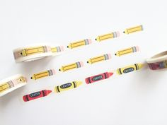 Pencil & Crayon Washi Tape by PapergeekMY on Etsy