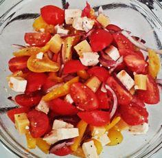 zeleninový salát (rajčata,balkánský sýr)