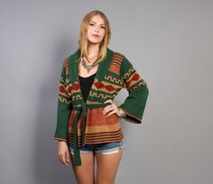 Wrap up in a cozy vintage sweater.