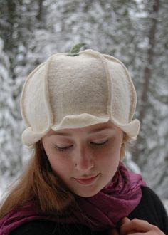 Snowdrop Felted Hat by ElisaShine on Etsy, $68.00