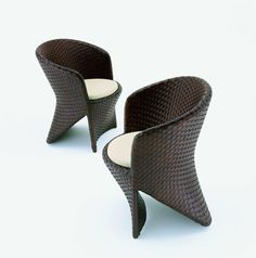 RHA outdoor chair Chair Design, Furniture Design, Rattan, Wicker, Underwater Restaurant, Joe Colombo, Organic Shapes, Outdoor Chairs, Armchair