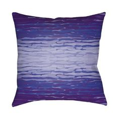 "Surya Textures Throw Pillow Size: 20"" H x 20"" W x 5"" D, Color: Purple"