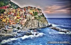 Cinque Terre, Italy via Beers & Beans >>>such a beautiful place! Click the photo to see it enlarged.