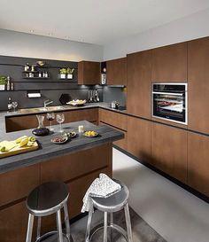 Luxury German Kitchen Design Company in Dubai Kitchen Design Open, Kitchen Cabinet Design, Kitchen Layout, Interior Design Kitchen, Diy Interior, Kitchen Hardware, Kitchen Colors, Interior Livingroom, Kitchen Fixtures