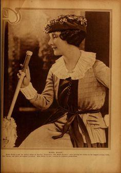 "Kittyinva: 1920 portrait of Mabel Ballin from ""Motion Picture""."